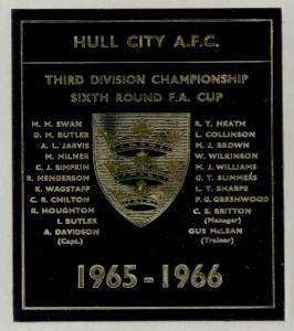 1965-66 Plaque